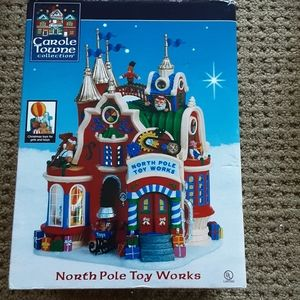 Vintage lemax Christmas decor north pole toy works